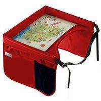 TULOKO Bezpieczny stolik podróżnika z mapą Polski, czerwony, 3037