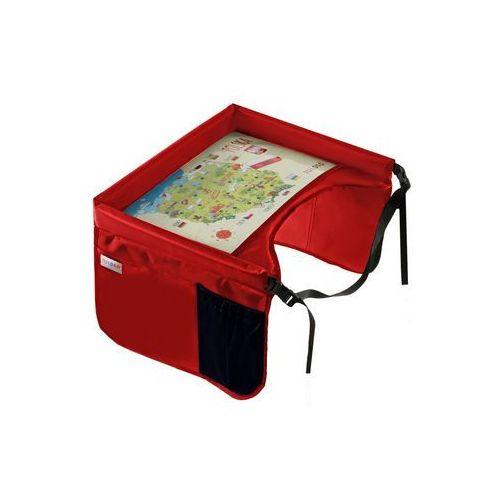 TULOKO Bezpieczny stolik podróżnika z mapą Polski, czerwony (5903111233037)