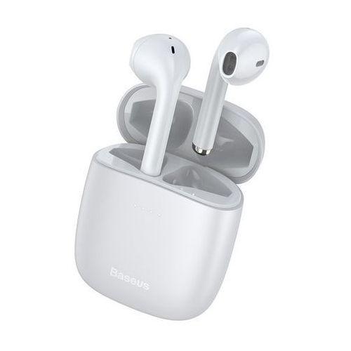 Baseus True W04 | Słuchawki bezprzewodowe bluetooth 5.0 z etui ładującym wodoodporne | biały - Biały (6953156215726)