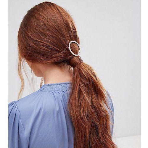 Orelia pearl circle hair clip - gold