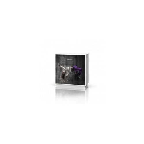 Baggi design Komoda 1 szuflada 2 drzwi mix hip hop violet