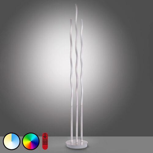 Leuchten direkt Lampa stojąca led lolasmart wave, 3-punktowa, stal (4043689961350)