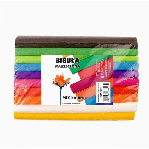 Bibuła marszczona STARPAK Mix 10 kolorów (5907604631164)