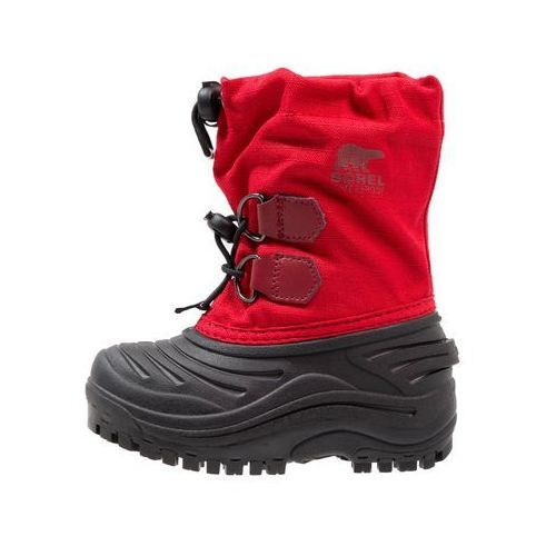 Sorel SUPER TROOPER Śniegowce bright red/red element, kolor czerwony