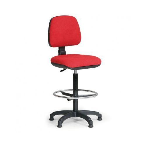 B2b partner Podwyższone krzesło biurowe milano z podnóżkiem - czerwone