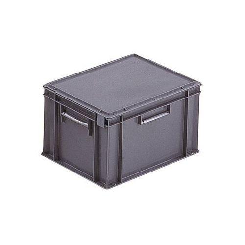 Pojemnik wg euronormy, poj. 20 l, dł. x szer. x wys. 400x300x246 mm, od 20 szt.