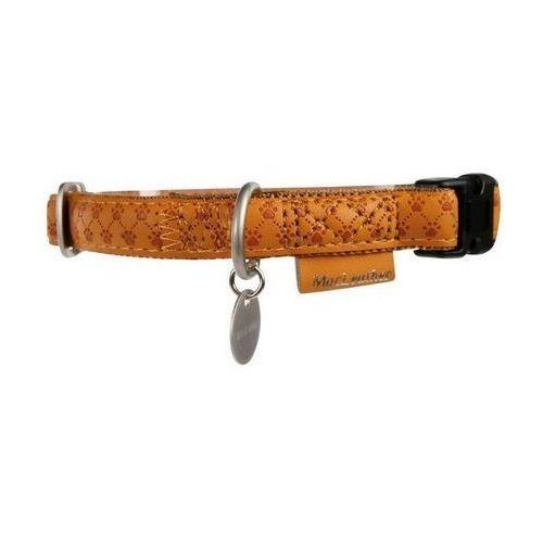 Zolux Obroża regulowana Mac Leather 15mm Żółta [522035JA] (3484152203576)