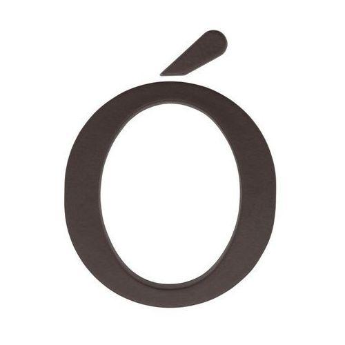 Litera Ó wys. 9 cm PVC brązowa (5901912823372)