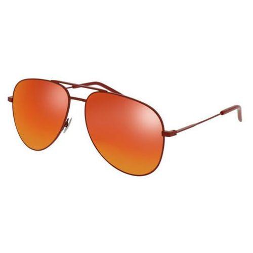 Okulary Słoneczne Saint Laurent CLASSIC 11 RAINBOW 008, kolor żółty