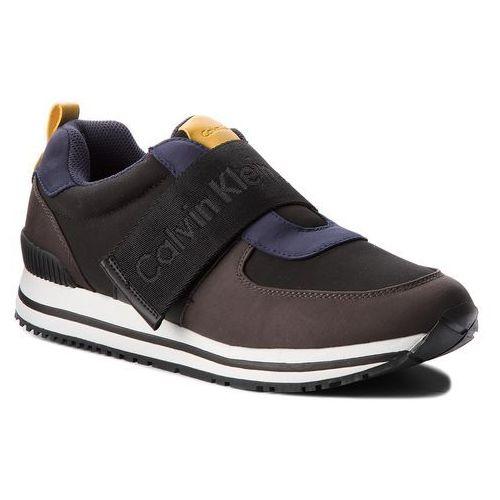 Sneakersy jeans - encino s0465 black/graphite, Calvin klein, 40-45