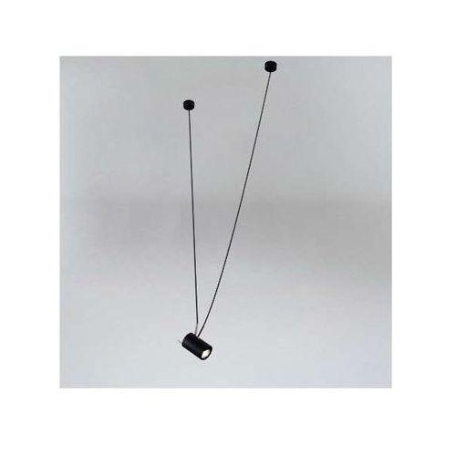 LAMPA wisząca VIWIN 9024/GU10/CZ/CH Shilo metalowa OPRAWA tuba zwis czarny chrom, 9024/GU10/CZ/CH