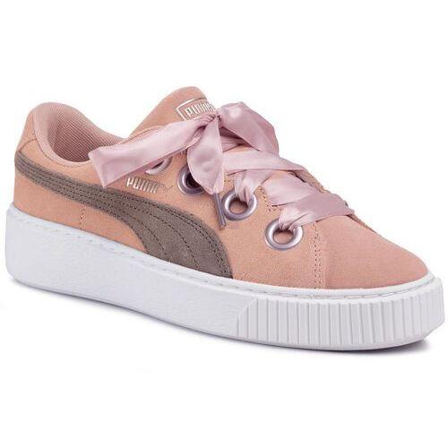 Sneakersy PUMA - Platform Kiss Sd Jr 367459 04 Peach Beige/Bun Cord/White, kolor różowy