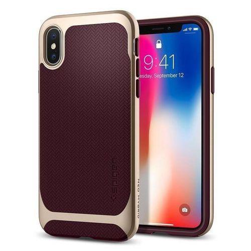 Spigen Etui neo hybrid iphone x burgundy (8809565300653)