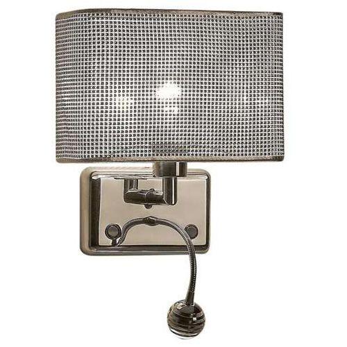 Kinkiet LAMPA ścienna BLINK W0173-02A Zumaline kwadratowa OPRAWA z regulowanym peszlem LED 3W do czytania chrom, W0173-02A