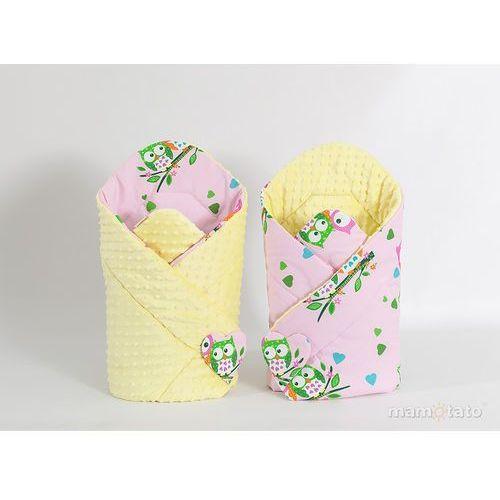 zabawka dwustronny rożek minky dla lalek sówki różowe d / żółty marki Mamo-tato