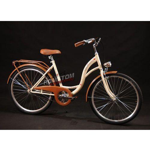 Przykładowy producent Rower miejski 26 Vanessa kremowa (stożki brązowa osłona) - Kremowy