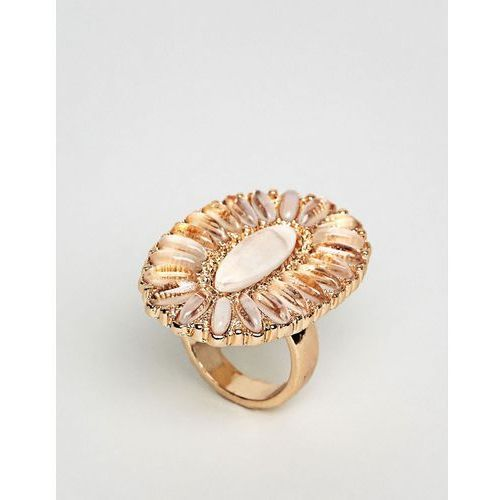 oval ornate ring - gold marki New look