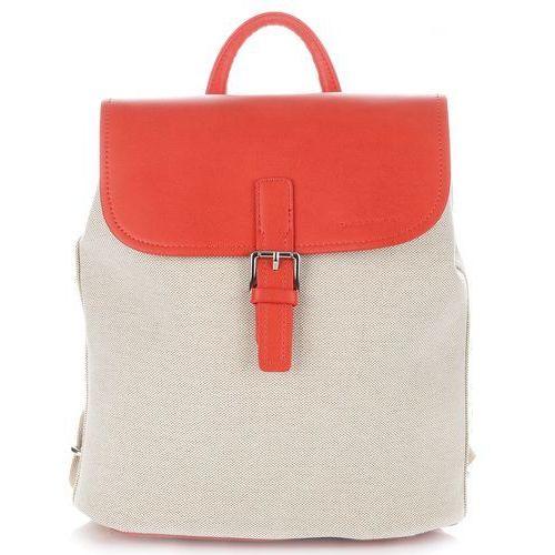 David jones Pojemne plecaki damskie renomowanej marki czerwone