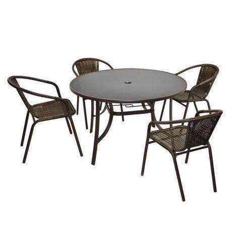 Komplet Bistro stół + cztery krzesła Garth