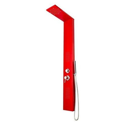 Panel prysznicowy z hydromasażem, kolor czerwony IN-8712R