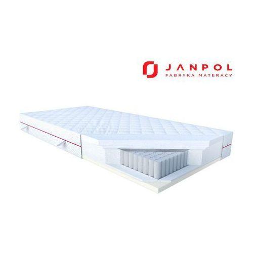 Janpol nolli – materac multipocket, sprężynowy, pokrowiec - tencel, rozmiar - 140x190 najlepsza cena, darmowa dostawa