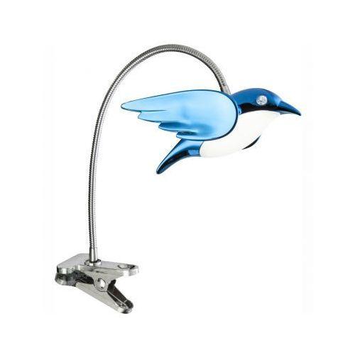Globo lampa z klipsem LED Niebeieski, Chrom, 1-punktowy - - Obszar wewnętrzny - BIRD - Czas dostawy: od 6-10 dni roboczych, 56671-1K