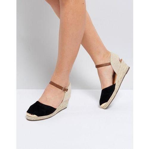 wedge espadrille with ankle strap - black marki Miss kg