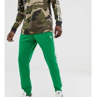 3 -stripe skinny joggers with cuffed hem in green - green marki Adidas originals