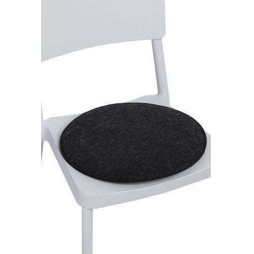 Poduszka na krzesło okrągła szara ciemna modern house bogata chata marki D2.design