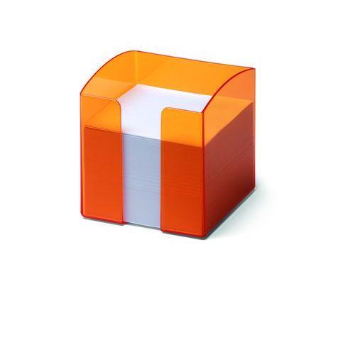 Durable Pojemnik na karteczki trend przezroczysty pomarańczowy