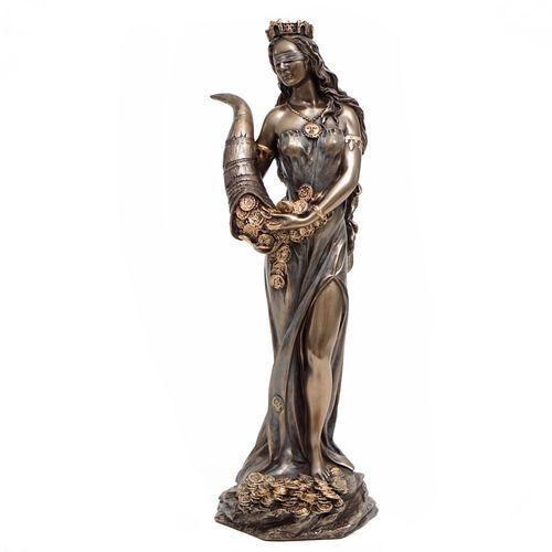 Fortuna z rogiem obfitości -  grecka bogini wyprodukowany przez Veronese