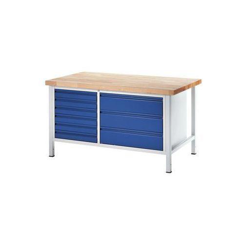 Stół warsztatowy, stabilny,6 szuflad w rozmiarze l, 3 szuflady w rozmiarze xl marki Rau