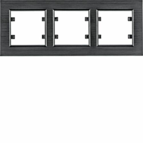 HAGER lumina passion Ramka 3-krotna pozioma, aluminium czarne WL9233 (8694407002396)