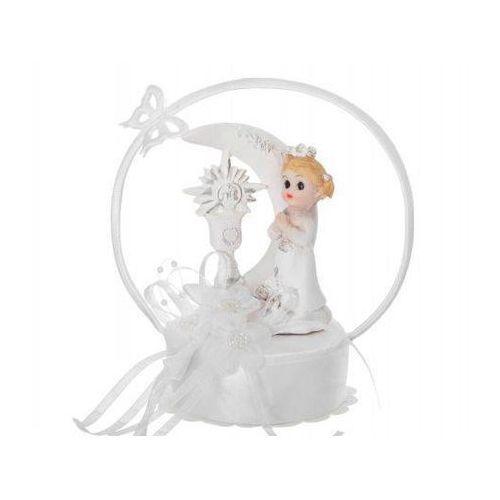 Figurka gipsowa komunijna na tort dziewczynka, 15 cm, 1 szt. (5901157417084)