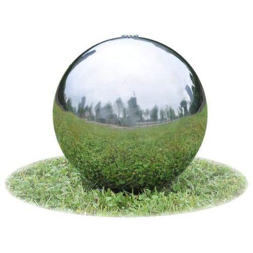 vidaXL Fontanna ogrodowa kula ze stali nierdzewnej światłem LED 20 cm