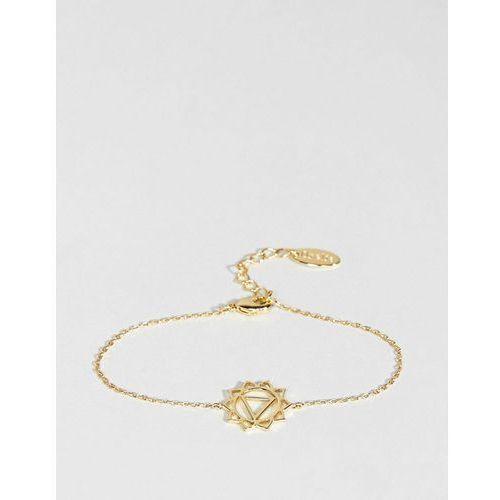 gold plated chakra bracelet - gold marki Orelia