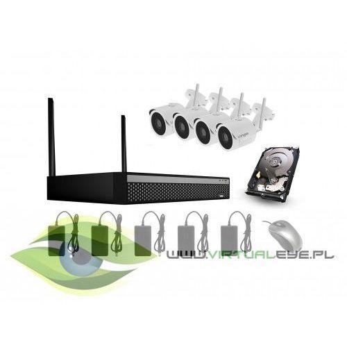 Zestaw WIFI do monitoringu 4 kamery + rejestrator WIFI3604DE4SE200