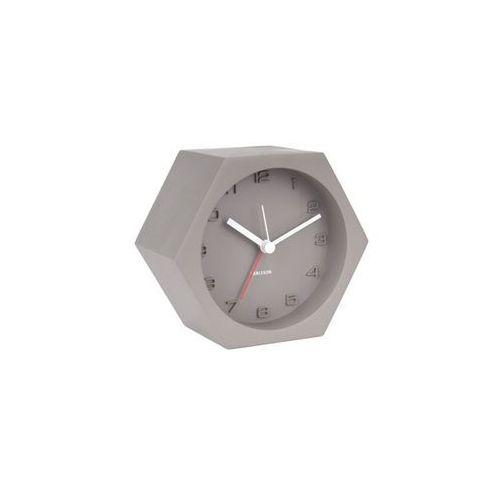 :: budzik hexagon concrete szary - szary marki Karlsson