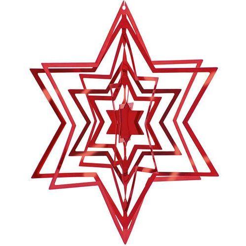 Philippi Ozdoba choinkowa 3d gwiazda czerwona (p141004)