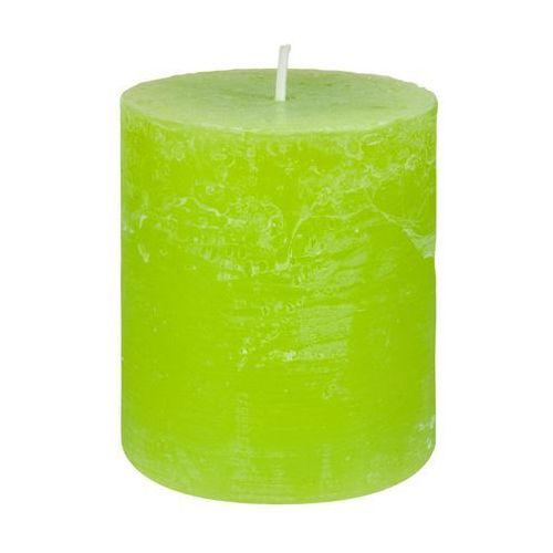 Bolsius Świeca pieńkowa rustic zielona wys. 8 cm (8711711826972)