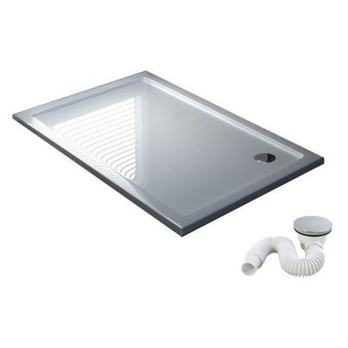 Zoja Cienki brodzik corner 80x90x5,5cm (syfon w komplecie)