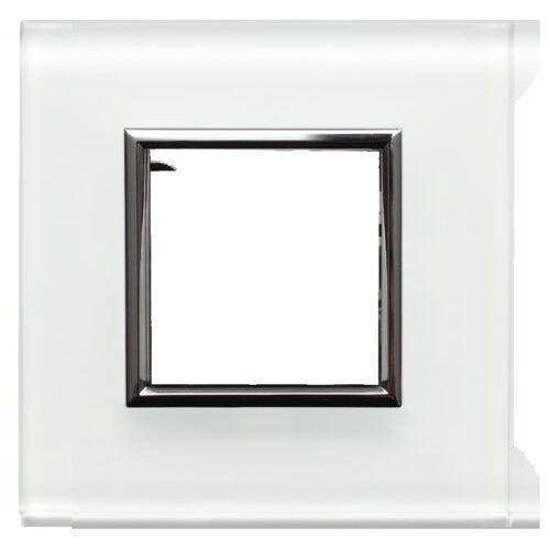 DANTE Ramka pojedyncza szkło białe 4502181, kolor biały