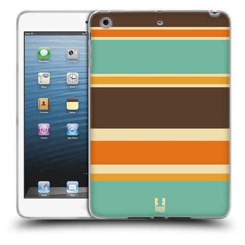 Head case Etui silikonowe na tablet - paski brązowe i pomarańczowe