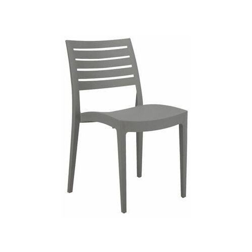 Telehit garden Krzesło ogrodowe firenze plastikowe antracytowe (8005465970396)