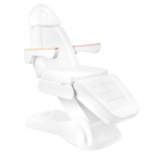 Activeshop Elektryczny fotel kosmetyczny lux 273b 3 silniki biały
