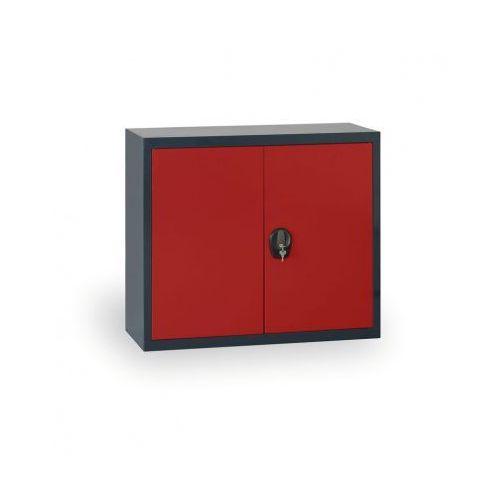 Szafa metalowa, 800x920x400 mm, 1 półka, antracyt/czerwony