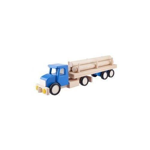 Duża ciężarówka z balami Niebieska