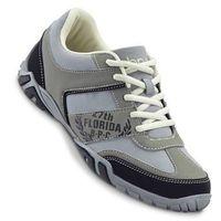 Buty sznurowane bonprix szaro-czarny, kolor czarny