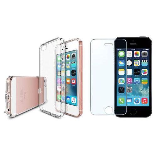 Rearth / perfect glass Zestaw | rearth ringke air crystal view | obudowa + szkło ochronne perfect glass dla modeli apple iphone 5 / 5s / se