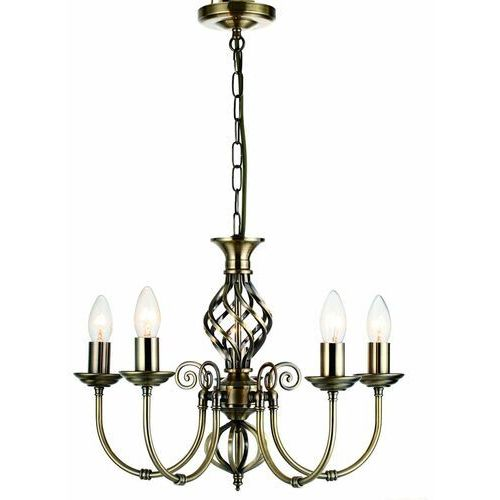 Lampa wisząca zwis Reality Aimee 5x40W E14 patyna 123905-04 >>> RABATUJEMY do 20% KAŻDE zamówienie!!!